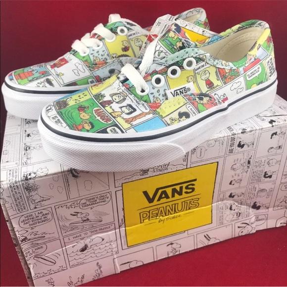 f2e70f74e375 Peanuts X Vans comic strip kids shoes